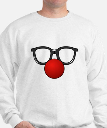 Funny Glasses with Clown Nose Sweatshirt