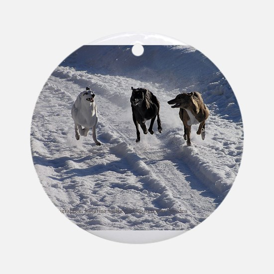 Racing Snow Hounds Ornament (Round)