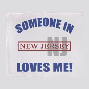 Someone In New Jersey Loves Me Throw Blanket