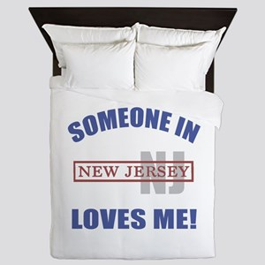 Someone In New Jersey Loves Me Queen Duvet
