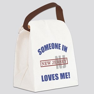 Someone In New Jersey Loves Me Canvas Lunch Bag