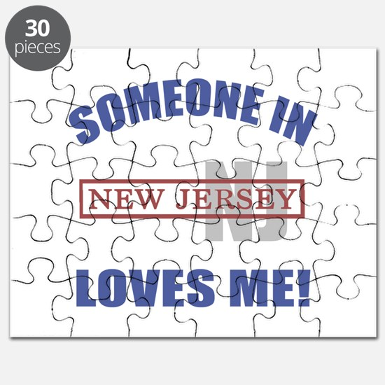 Someone In New Jersey Loves Me Puzzle