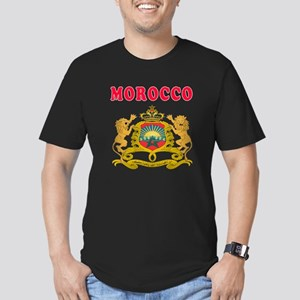 Morocco Coat Of Arms Designs Men's Fitted T-Shirt