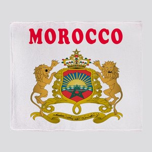 Morocco Coat Of Arms Designs Throw Blanket