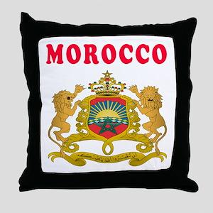 Morocco Coat Of Arms Designs Throw Pillow