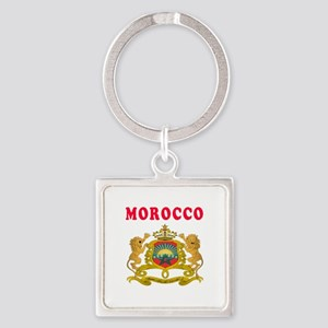 Morocco Coat Of Arms Designs Square Keychain