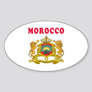 Morocco Coat Of Arms Designs Sticker (Oval)