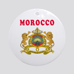 Morocco Coat Of Arms Designs Ornament (Round)