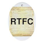 Read The Fine Constitution Ornament (Oval)