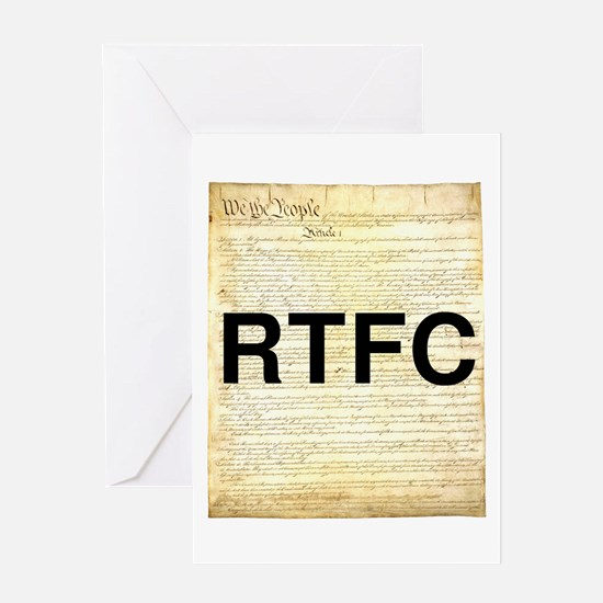 Read The Fine Constitution Greeting Card