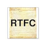 Read The Fine Constitution Square Sticker 3