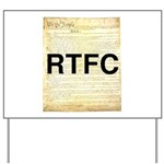 Read The Fine Constitution Yard Sign