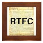 Read The Fine Constitution Framed Tile