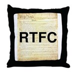Read The Fine Constitution Throw Pillow