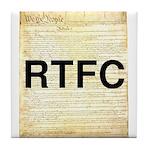 Read The Fine Constitution Tile Coaster