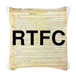 Read The Fine Constitution Woven Throw Pillow