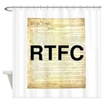 Read The Fine Constitution Shower Curtain