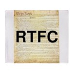 Read The Fine Constitution Throw Blanket