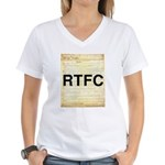 Read The Fine Constitution Women's V-Neck T-Shirt