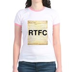 Read The Fine Constitution Jr. Ringer T-Shirt