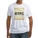 Read The Fine Constitution Fitted T-Shirt