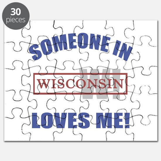 Someone In Wisconsin Loves Me Puzzle