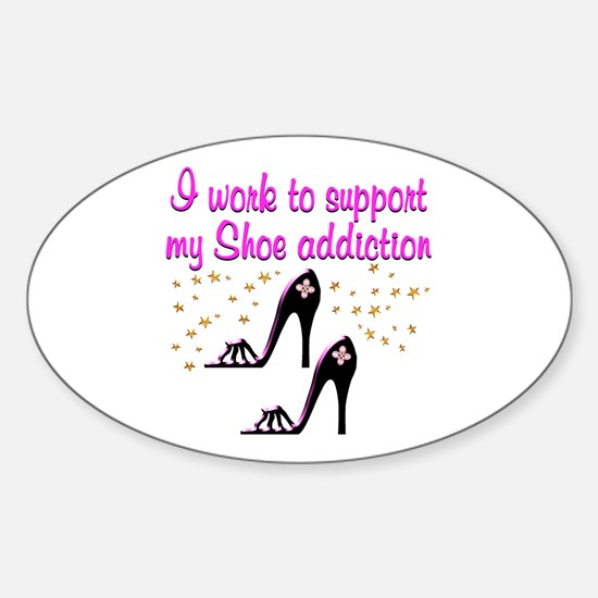 GLAMOUR SHOES Sticker (Oval)