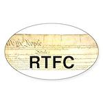 Read The Fine Constitution Sticker (Oval)
