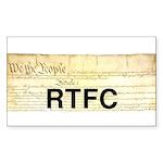 Read The Fine Constitution Sticker (Rectangle)