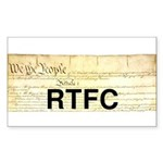 Read The Fine Constitution Sticker (Rectangle 10 p