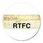 Read The Fine Constitution Round Car Magnet