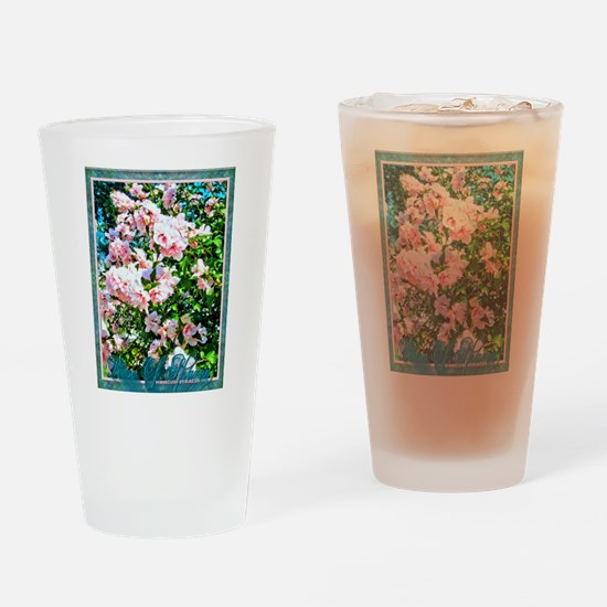 Rose of Sharon Hibiscus Drinking Glass