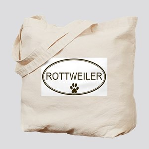 Oval Rottweiler Tote Bag