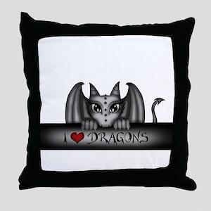 i love dragons Throw Pillow