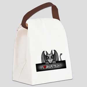 i love dragons Canvas Lunch Bag