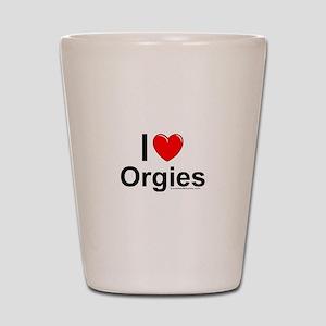 Orgies Shot Glass