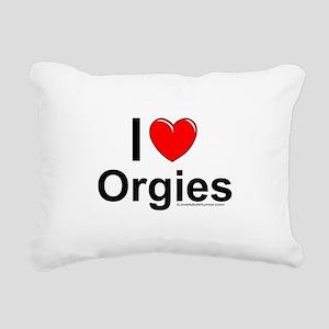 Orgies Rectangular Canvas Pillow