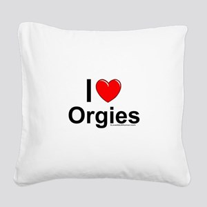 Orgies Square Canvas Pillow