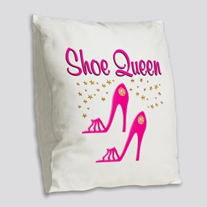 PRETTY SHOES Burlap Throw Pillow