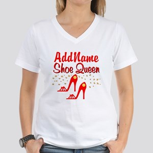 WILD RED SHOES Women's V-Neck T-Shirt