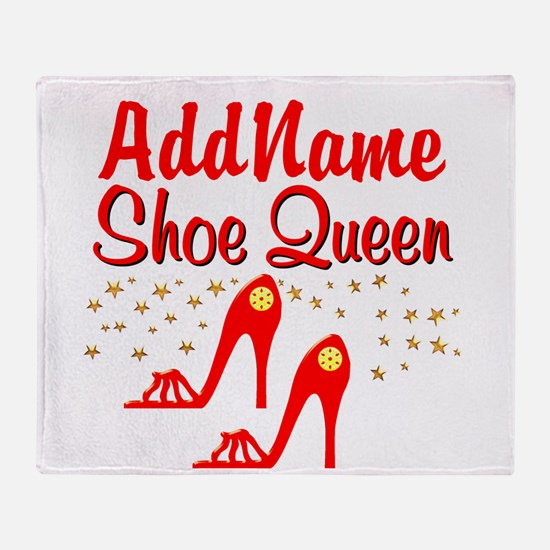 WILD RED SHOES Throw Blanket