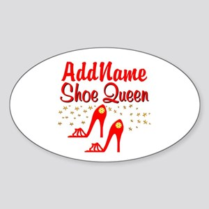WILD RED SHOES Sticker (Oval)