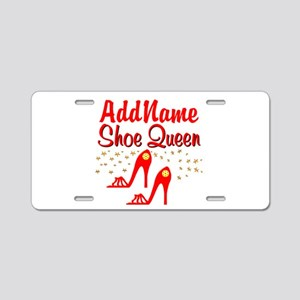 WILD RED SHOES Aluminum License Plate