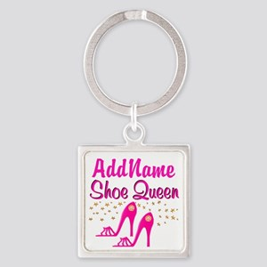SEXY PINK SHOES Square Keychain