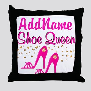 SEXY PINK SHOES Throw Pillow
