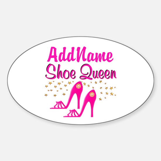 SEXY PINK SHOES Sticker (Oval)