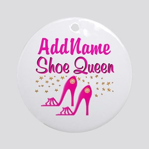 SEXY PINK SHOES Ornament (Round)
