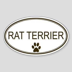 Oval Rat Terrier Oval Sticker