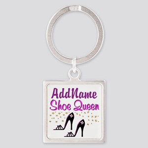 FUN PURPLE SHOES Square Keychain