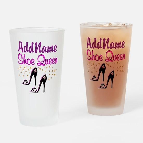 FUN PURPLE SHOES Drinking Glass